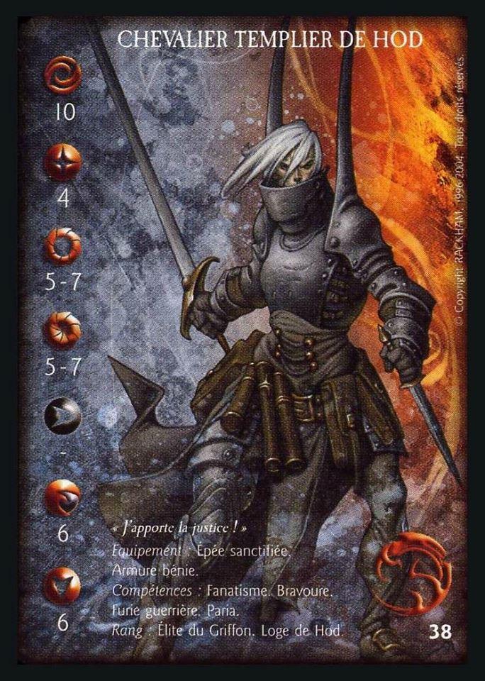 Knight Templar griffin confrontation card