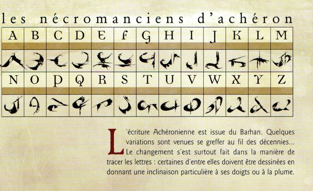 acheron cards confrontation alfabeto