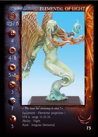 Mirvilis Confrontation card Elemental Light