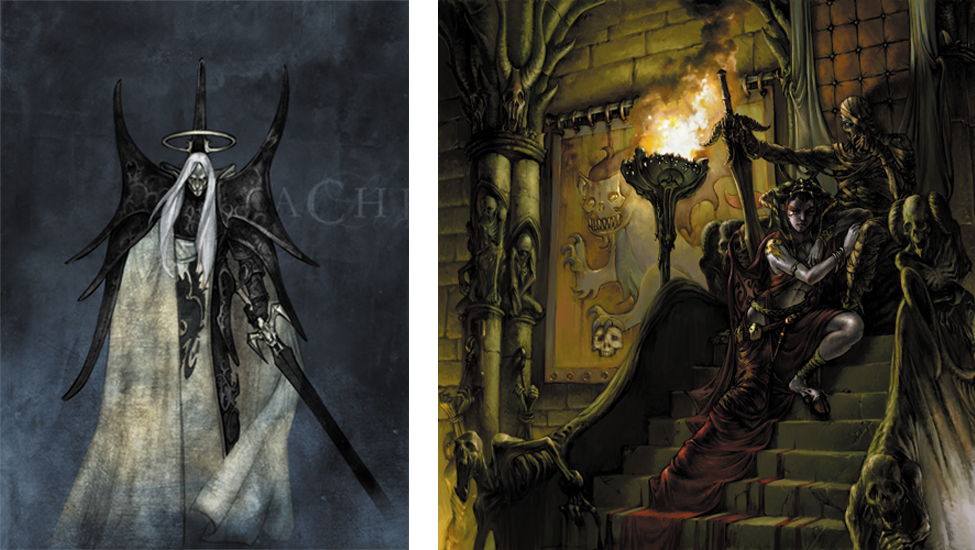 acheron non morti confrontation cards
