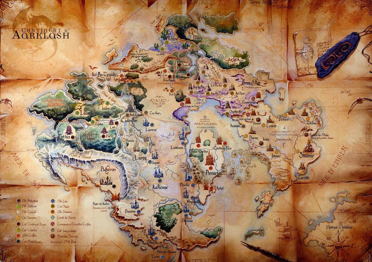 Aarklash Map