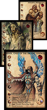 confrontation cards new evo cards miniature game